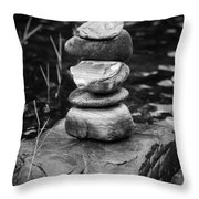 Zen River Vii Throw Pillow