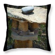 Zen Rocks In Balance Throw Pillow