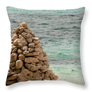 Zen Rocks In Paradise Throw Pillow