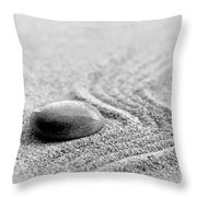 Zen Stone Throw Pillow by Delphimages Photo Creations