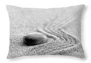Zen Stone Throw Pillow