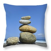 Zen Stones I Throw Pillow by Marianne Campolongo