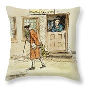 Zenger And Bradford, 1730s Throw Pillow