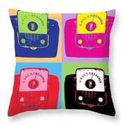 Zenith Transistors Throw Pillow
