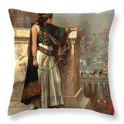 Zenobia's Last Look On Palmyra Throw Pillow