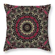 Zentangle No. 7 Kaleidoscope Throw Pillow