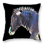 Zephyrus Zebra II Throw Pillow