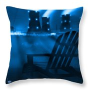 Zero Hour In Blue Throw Pillow