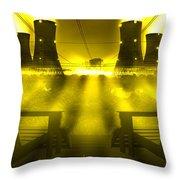 Zero Hour In Yellow Throw Pillow