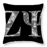 Zeta Psi - Black Throw Pillow
