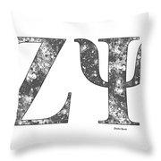 Zeta Psi - White Throw Pillow