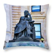 Zeus The King Throw Pillow by Paul Ward