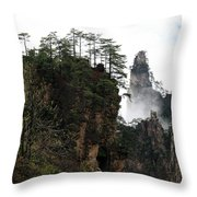 Zhangjiajie National Forest Park In China Throw Pillow