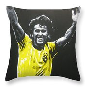 Zico - Brazil Throw Pillow