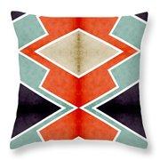 Zig Zag Angles 3 Throw Pillow