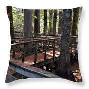 Zig Zag Thru The Cypress Trees Throw Pillow