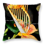 Zing Went The Strings Throw Pillow