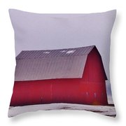 Zink Rd Farm 1 In Winter White Throw Pillow