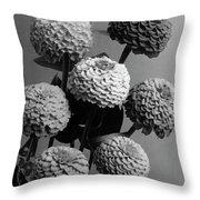 Zinnia Lilliput Flowers Throw Pillow