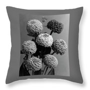 Zinnia Lilliput Flowers Throw Pillow