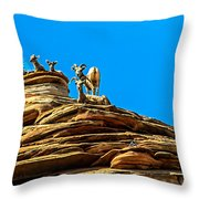Zion Bighorn Sheep Throw Pillow