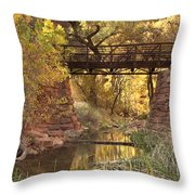 Zion Bridge Throw Pillow