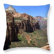 Zion Canyon Overlook Throw Pillow