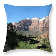 Zion Canyon View Throw Pillow