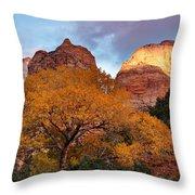 Zion Cliffs Autumn Throw Pillow