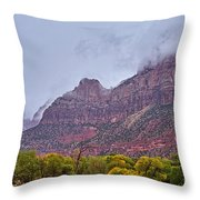 Zion In Clouds Throw Pillow