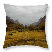 Mt. Zion In The Fall Throw Pillow