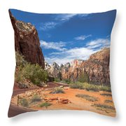 Zion Mount Carmel Highway Throw Pillow