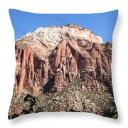 Zion Park Mountainscape Throw Pillow