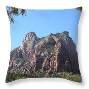 Zion Park Patriach Throw Pillow