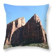 Zion Park Red Rocks Throw Pillow