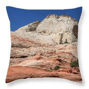 Zion Park - Rock Texture Throw Pillow