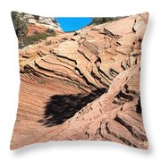 Zion Ripples Throw Pillow
