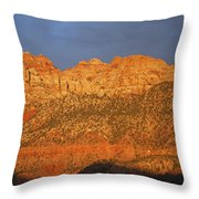 Zion Sunset Panorama Throw Pillow