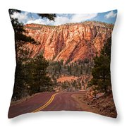 Zion View Throw Pillow