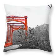 Zoar Bridge Throw Pillow