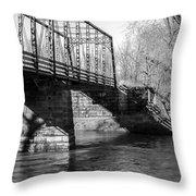 Zoar Iron Bridge Throw Pillow