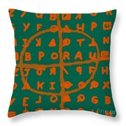 Zodiac Killer Code And Sign 20130213p28 Throw Pillow