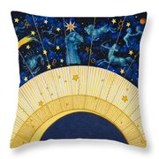 Zodiac Moon Throw Pillow