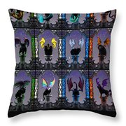 Zodiacatabats Throw Pillow