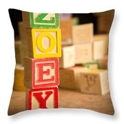 Zoey - Alphabet Blocks Throw Pillow
