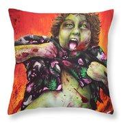 Zombie Chunk Throw Pillow