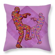 Zombie Funny Comic Cartoons Dance Zombie Dance Grand   36x12 Horizontal Landscape Energy Graphics Ba Throw Pillow