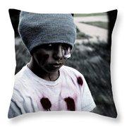 Zombie Kid Throw Pillow