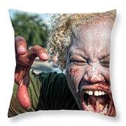 Zombie Run Nola 1 Throw Pillow