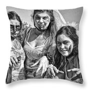 Zombie Run Nola 19 Throw Pillow